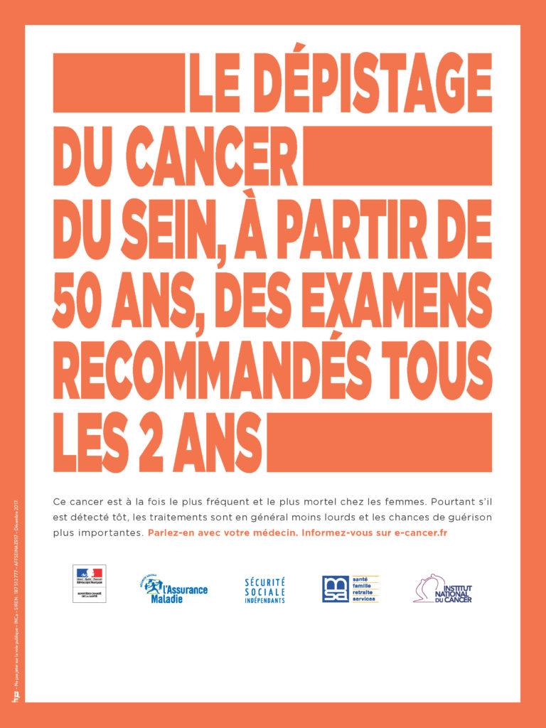 Affiche (AVEC zone de repiquage) - Dépistage du Cancer du Sein
