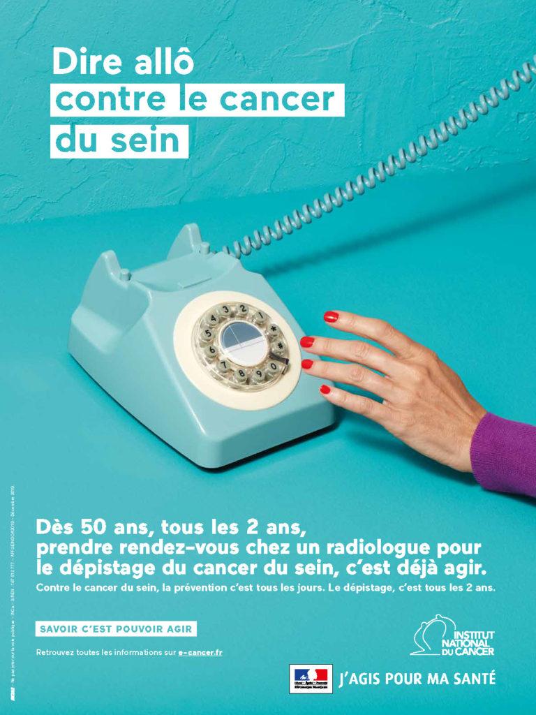 Affiche - Dire allô contre le cancer du sein