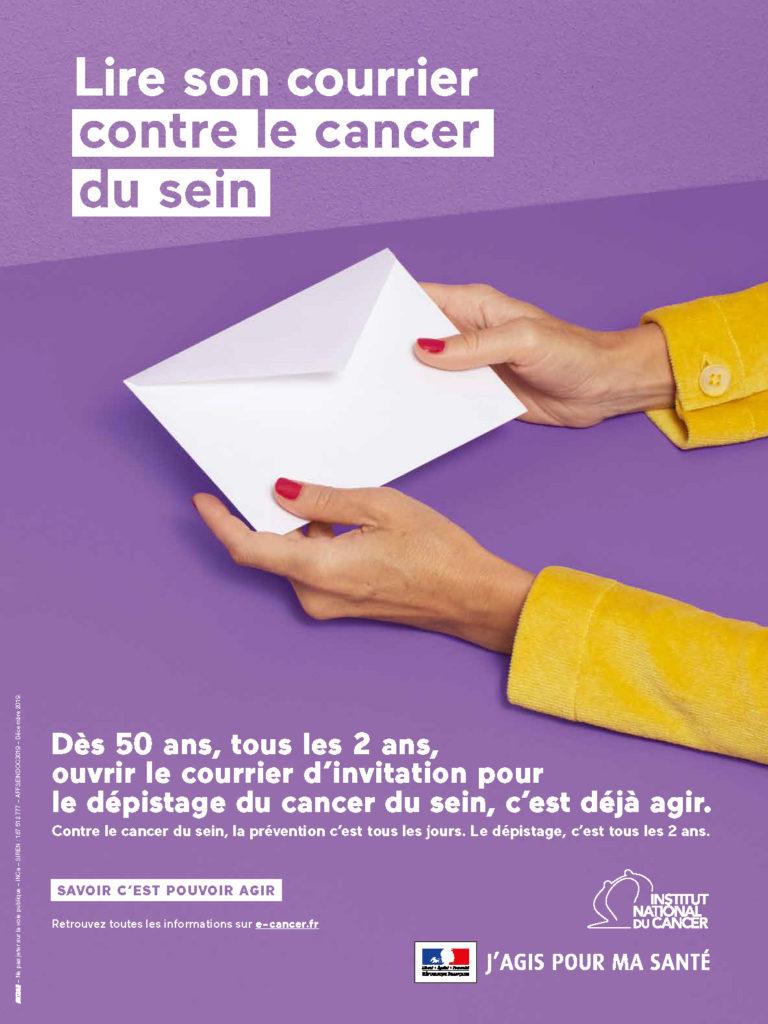 Affiche - Lire son courrier contre le cancer du sein