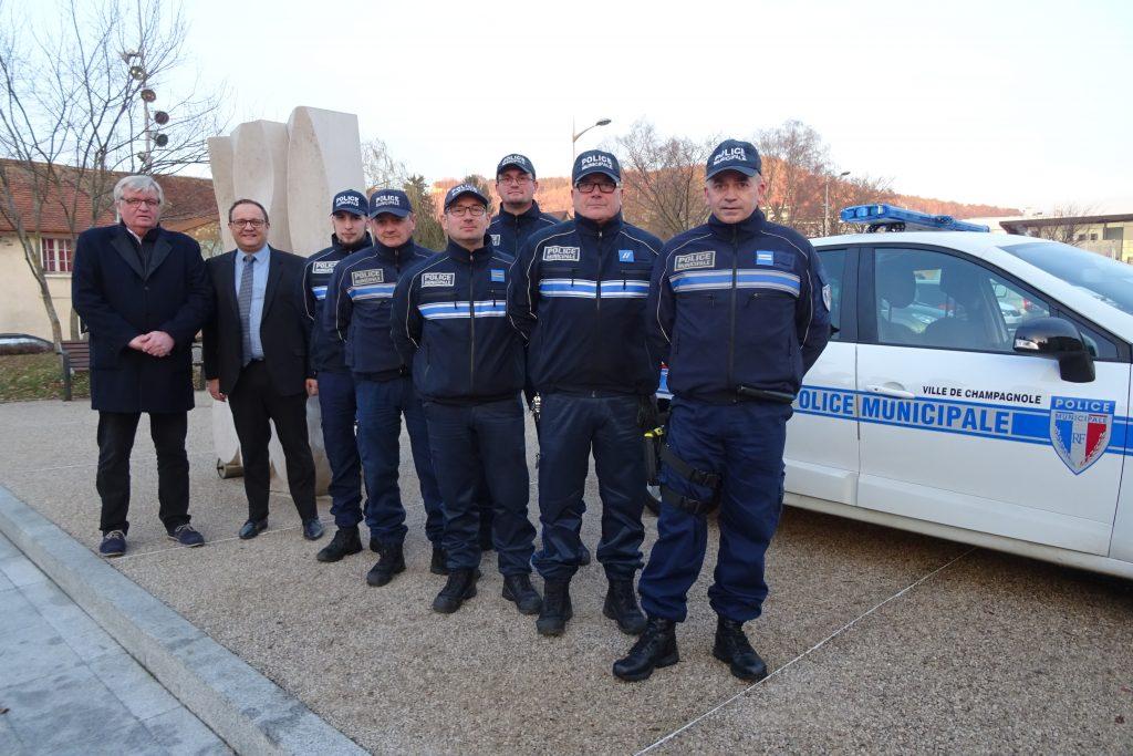 Police municipale de Champagnole.