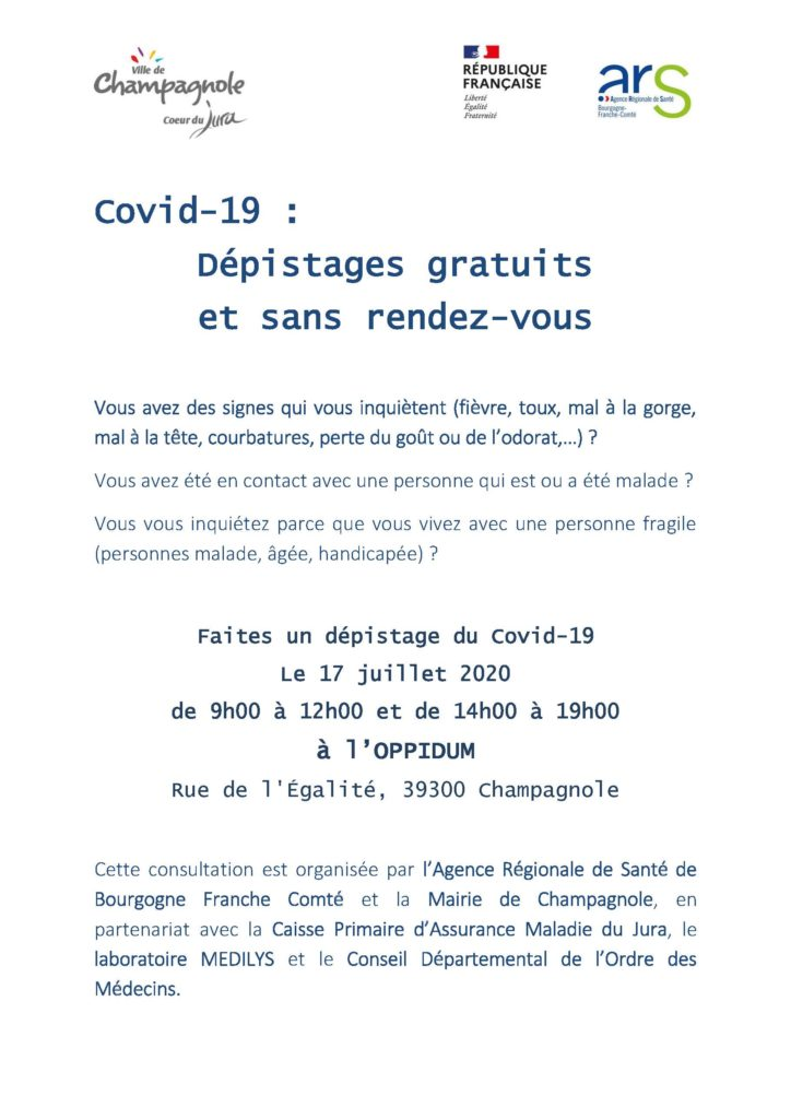 FLYER TESTS COVID CHAMPAGNOLE