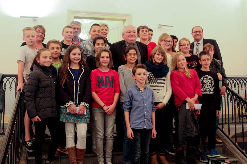 Premier conseil municipal des enfants à Champagnole.