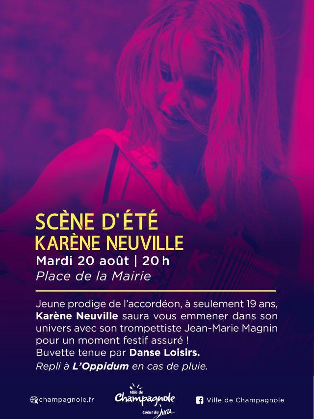 Scène d'été : Soirée Musette avec Karen Neuville