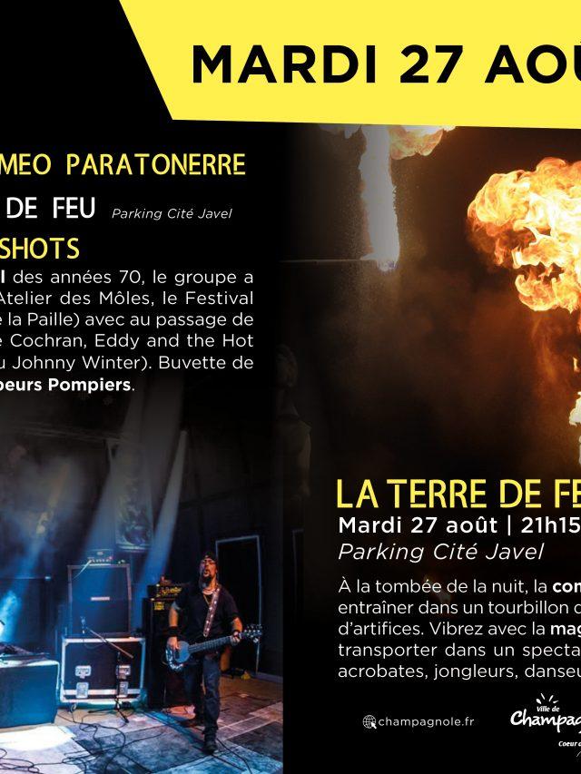 Scène d'été : Roméo Paratonnerre & 58 shots en concert et spectacle de feu !