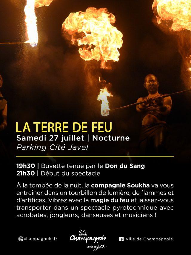Cie Soukha  «La terre de Feu» spectacle de feu