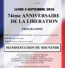 74ème Anniversaire de la Libération