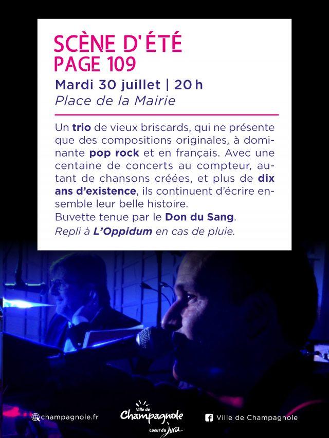 Scène d'été : P 109  en concert !