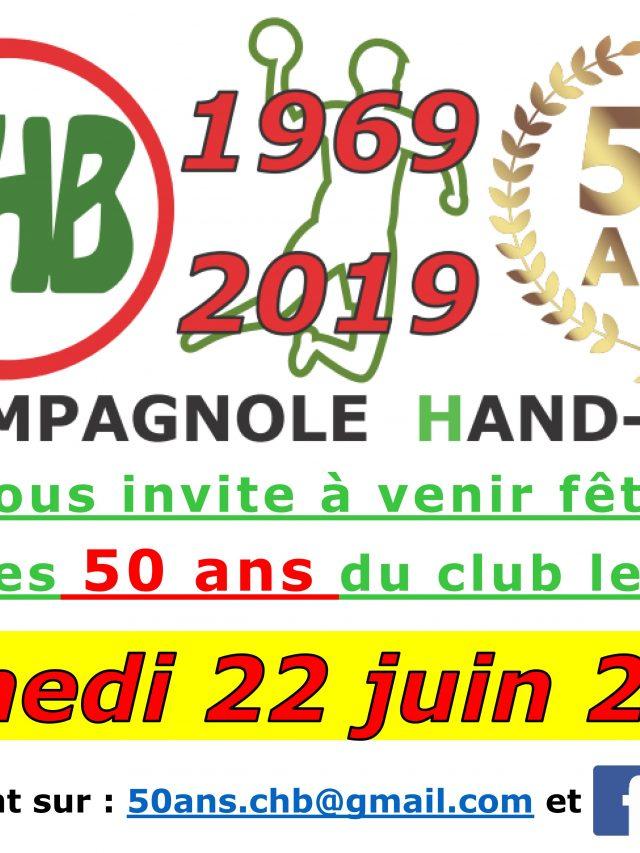 Les 50 ans du club de Handball !