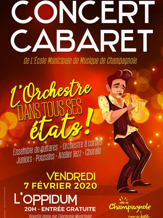 Concert Cabaret de l'école de Musique de Champagnole