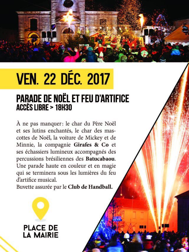 Parade de Noël et feu d'artifice