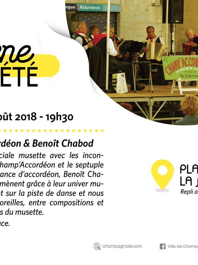 Scène d'été : Champ'accordéon & Benoit Chabod