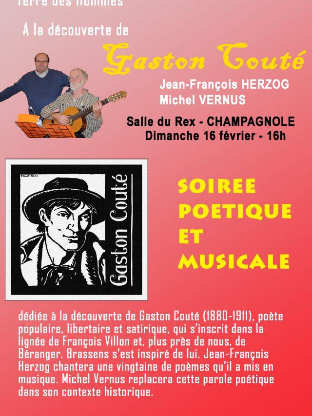 Gaston Couté soirée poétique et musicale