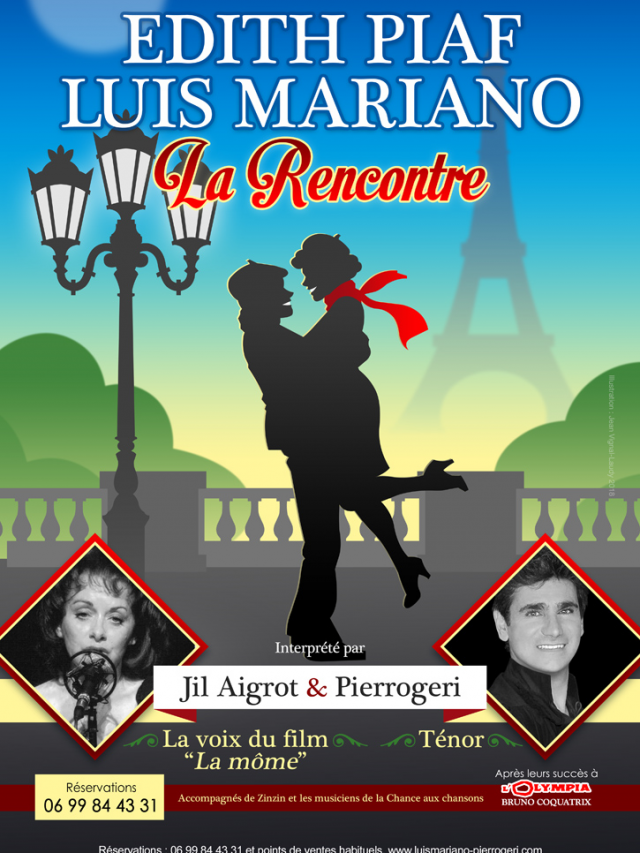 Spectacle musical PIAF MARIANO « la rencontre »