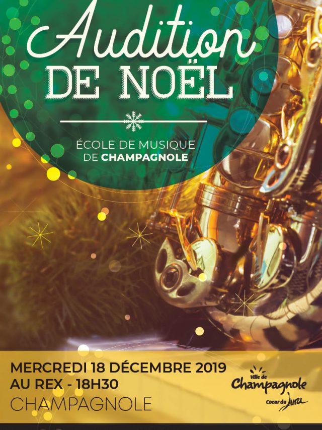 École de Musique de Champagnole : Auditions de Noël