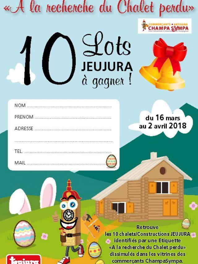Union commerciale jeu de vitrine pour Pâques 2018