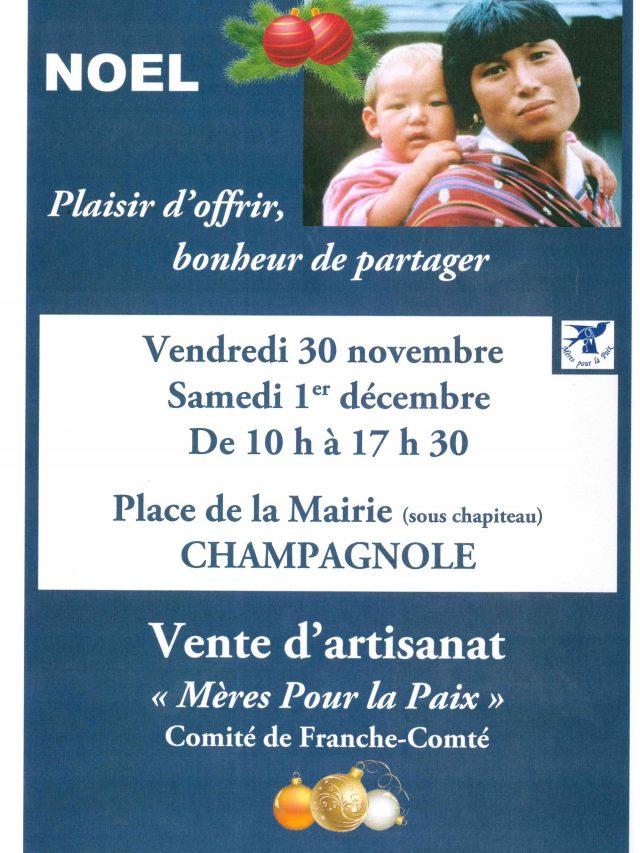 Vente d'artisanat «Mère pour le Paix»