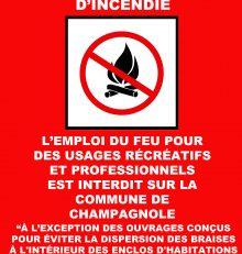 Sécheresse estivale & Prévention des risques d'incendie