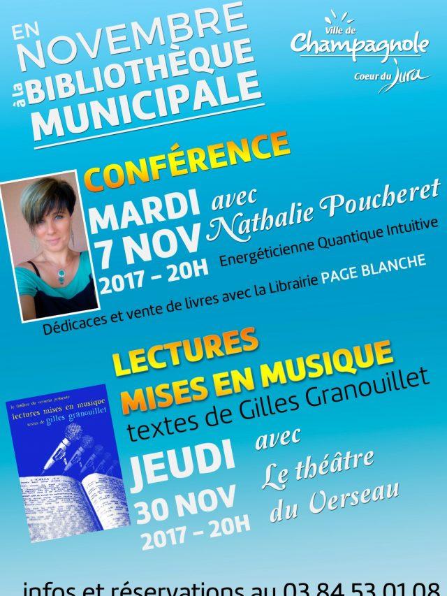 Conférence avec Nathalie Poucheret