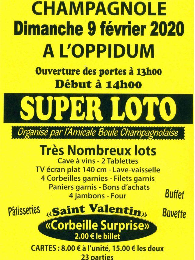 Super Loto de l'Amicale Boule Champagnolaise