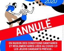 Annulation des jeudis dansants 2020